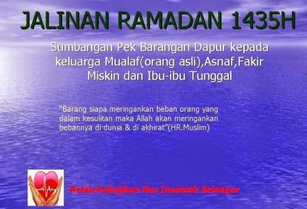 jalinan ramadan 1435H, program kebajikan, amal ibadat