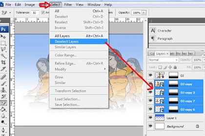 Teknik Deselect Layer di Photoshop