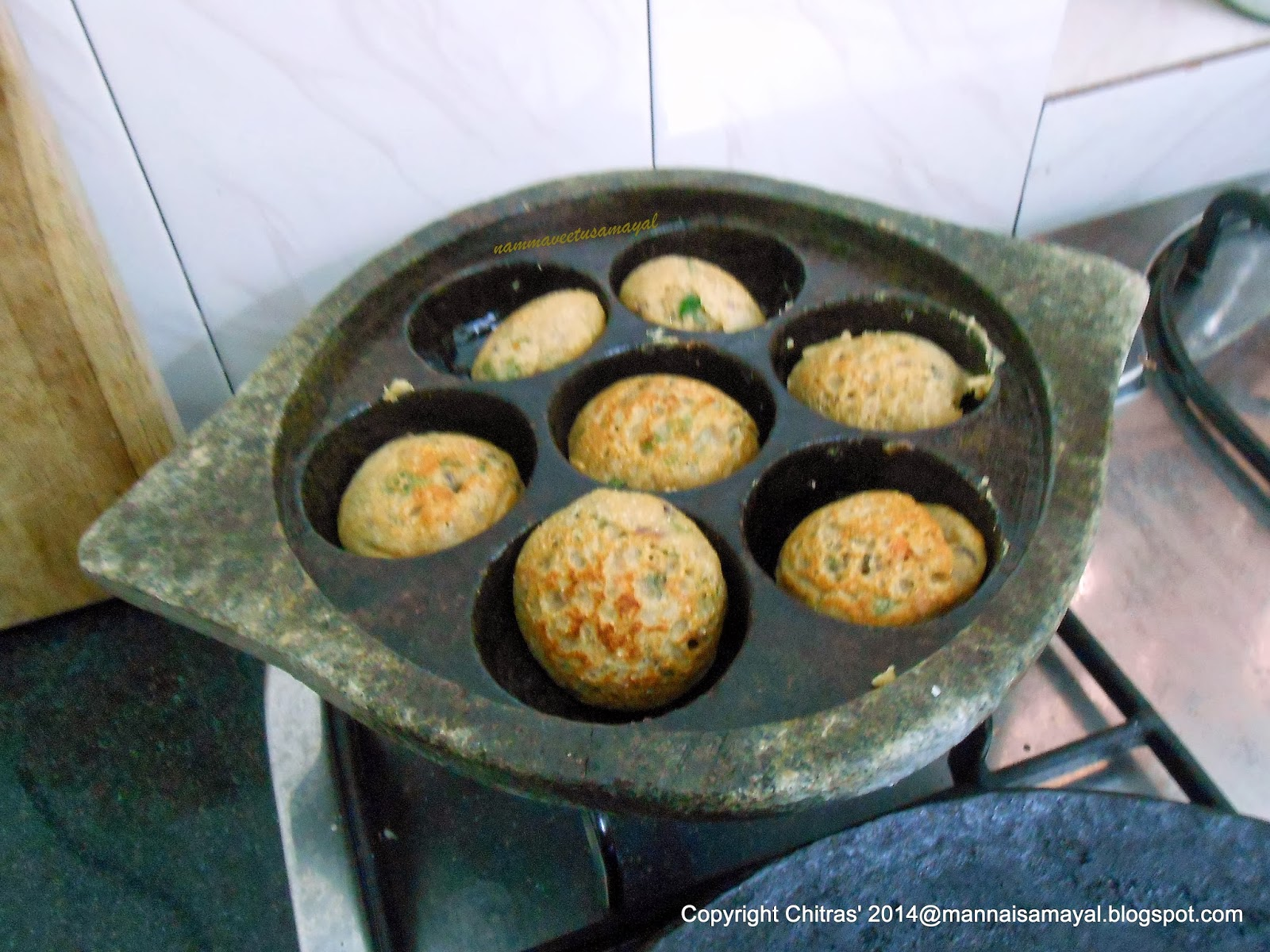 Thinai Kuzhi Paniyaram [ Foxtail Millet Kuzhi Paniyaram ]