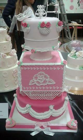 torta decorata con ghiaccia reale - fantasy cake 14-16 marzo 2014
