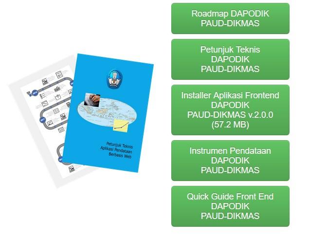 Aplikasi Dapodik PAUD-DIKMAS Versi 2.0.0 Semester 2 Tahun 2016