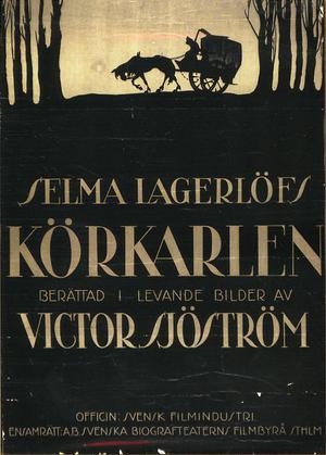 Cartel original de la película : La carreta fantasma -Körkarlen- (Victor Sjöström, 1921)