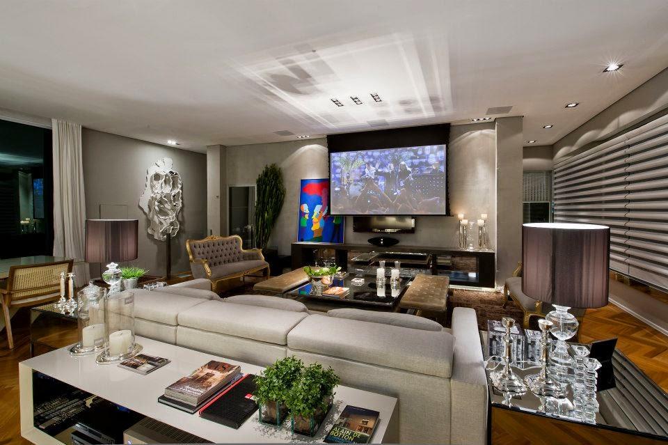 decoracao de interiores sala tvSalas de TV – veja 30 modelos lindos