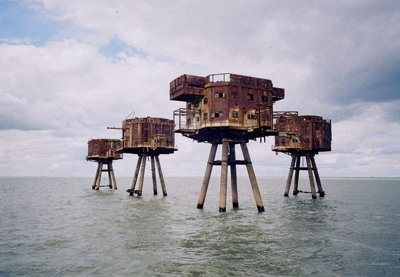 Las Fortalezas Marinas Maunsell de la Segunda Guerra Mundial