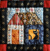 THE BUILDING HOUSES FROM SCRAPS PATTERN
