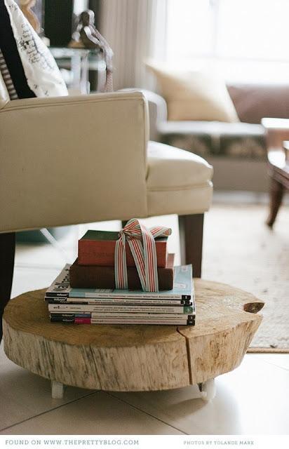 Trazos y telas decora con la naturaleza for Muebles con troncos