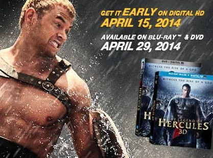 'The Legend of Hercules' on DVD