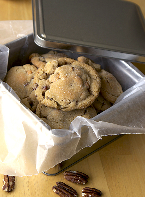 Sweet-Salty Butter Pecan Cookies ~ Heat Oven to 350