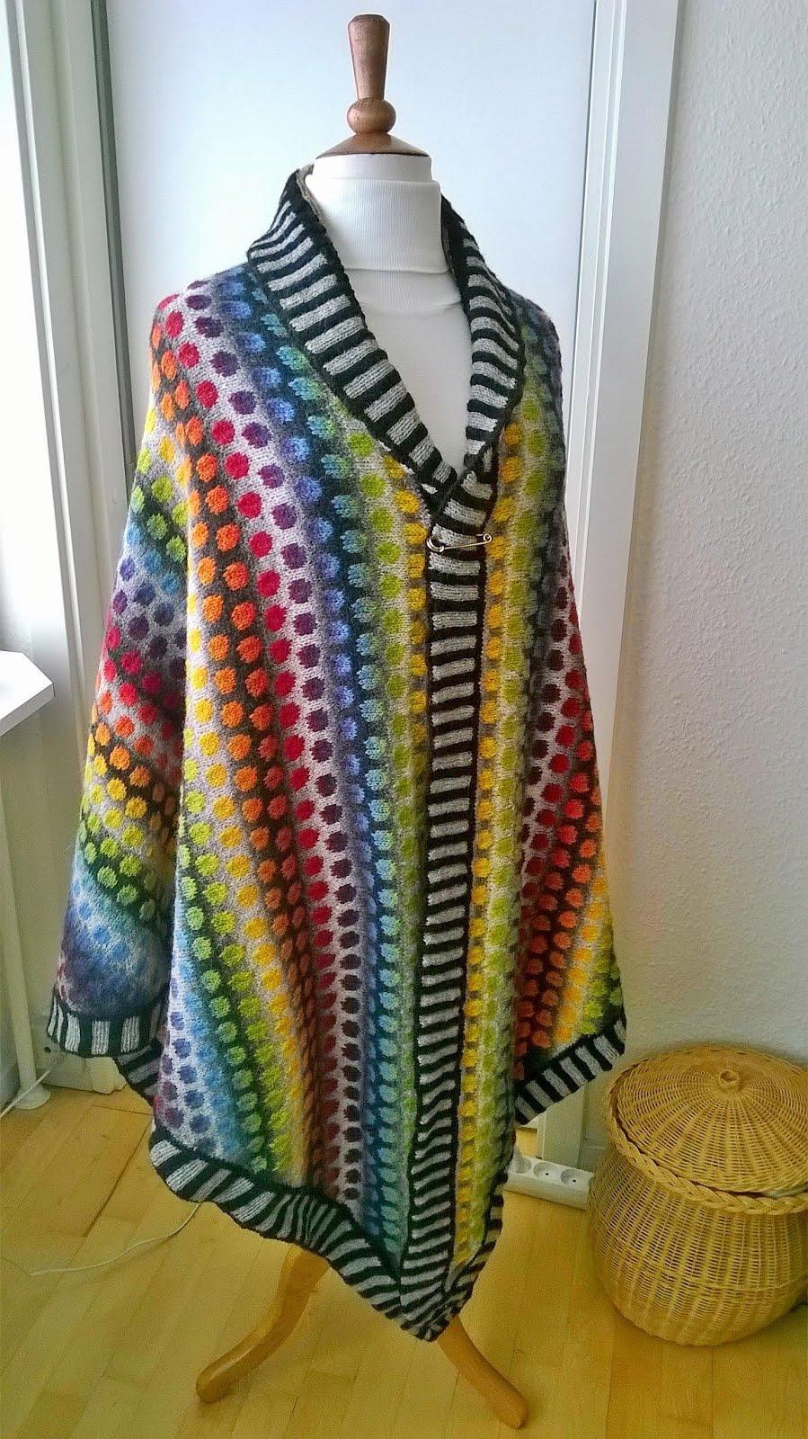 Mønster strikket sjal