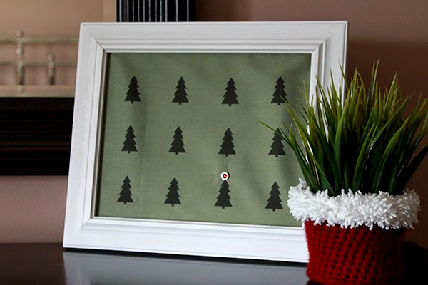 Christmas Forest ink-jet printed fabric -- make it yourself at home then sew or frame! | The Inspired Wren