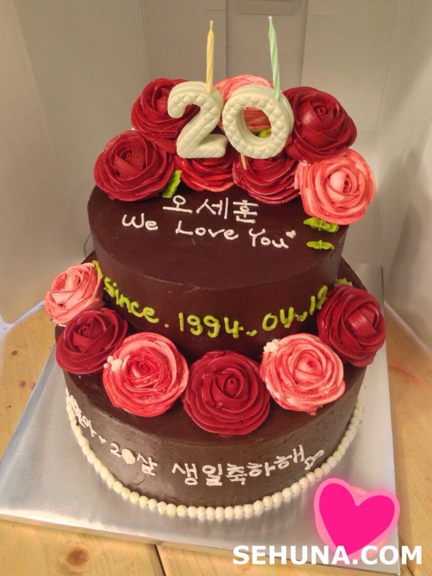 FANTAKEN 130412 Sehuns Birthday Cakes EXOdicted EXO Fansite