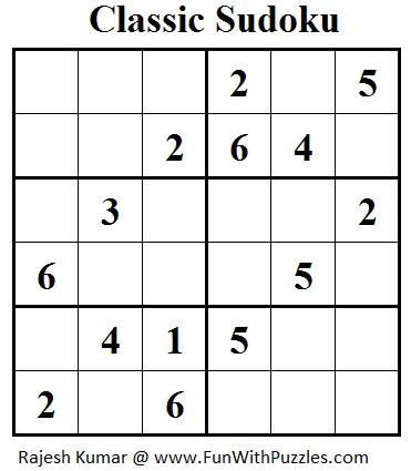 Classic Sudoku (Mini Sudoku Series #25)