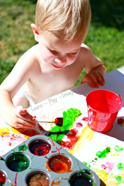 Recipe for fall sensory paints - perfect for any age!