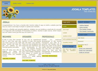 Free blog theme for Joomla 2.5