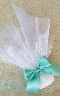 wedding favors aqua blue