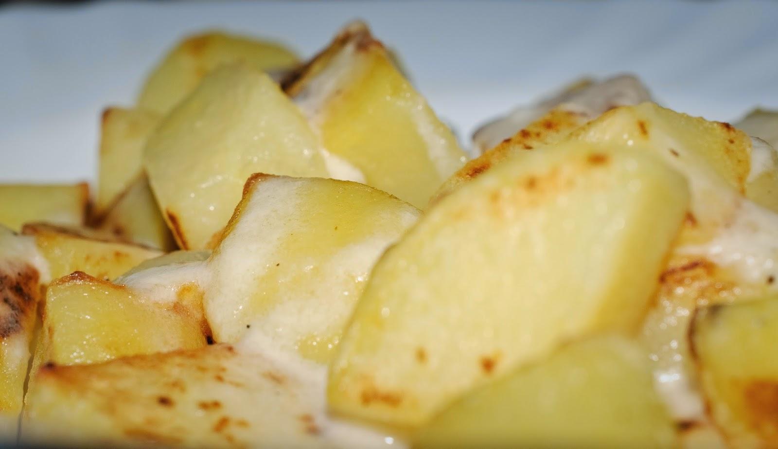 patatas al queso; cheesy potatoes