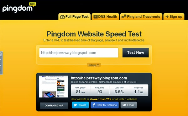 test your website online