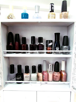 Easy Craft, DIY, spice rack transformation, Nail Polish Holder