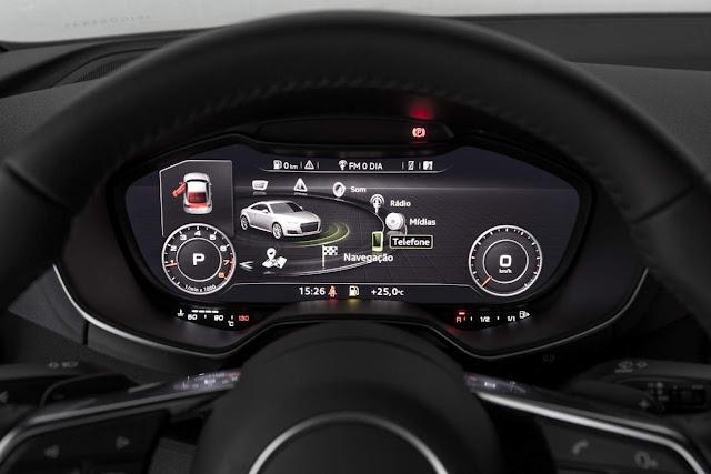 Novo Audi TT 2015 - painel digital