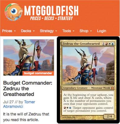 http://www.mtggoldfish.com/articles/budget-commander-zedruu-the-greathearted