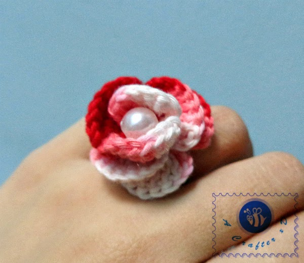 how to crochet rose ring