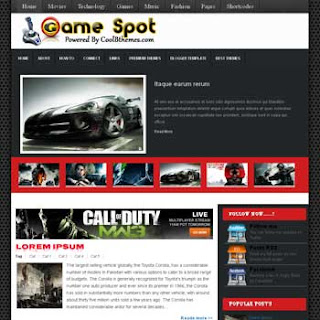 Game Spot Blogger Template