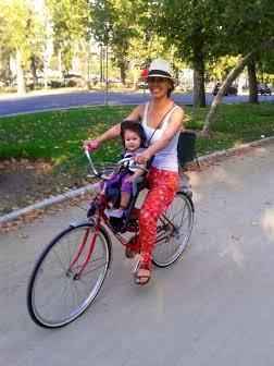 El peque o castillo silla delantera para bicicleta - Silla bebe bicicleta delantera ...