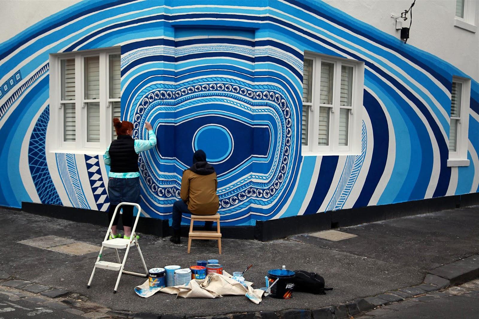 Lucas grogan new mural in fitzroy australia for Australian mural