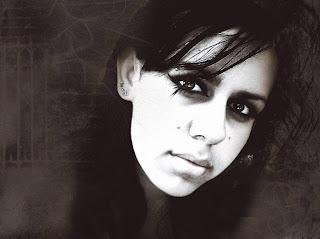Gothic Girl With Piercing Dark Wallpaper