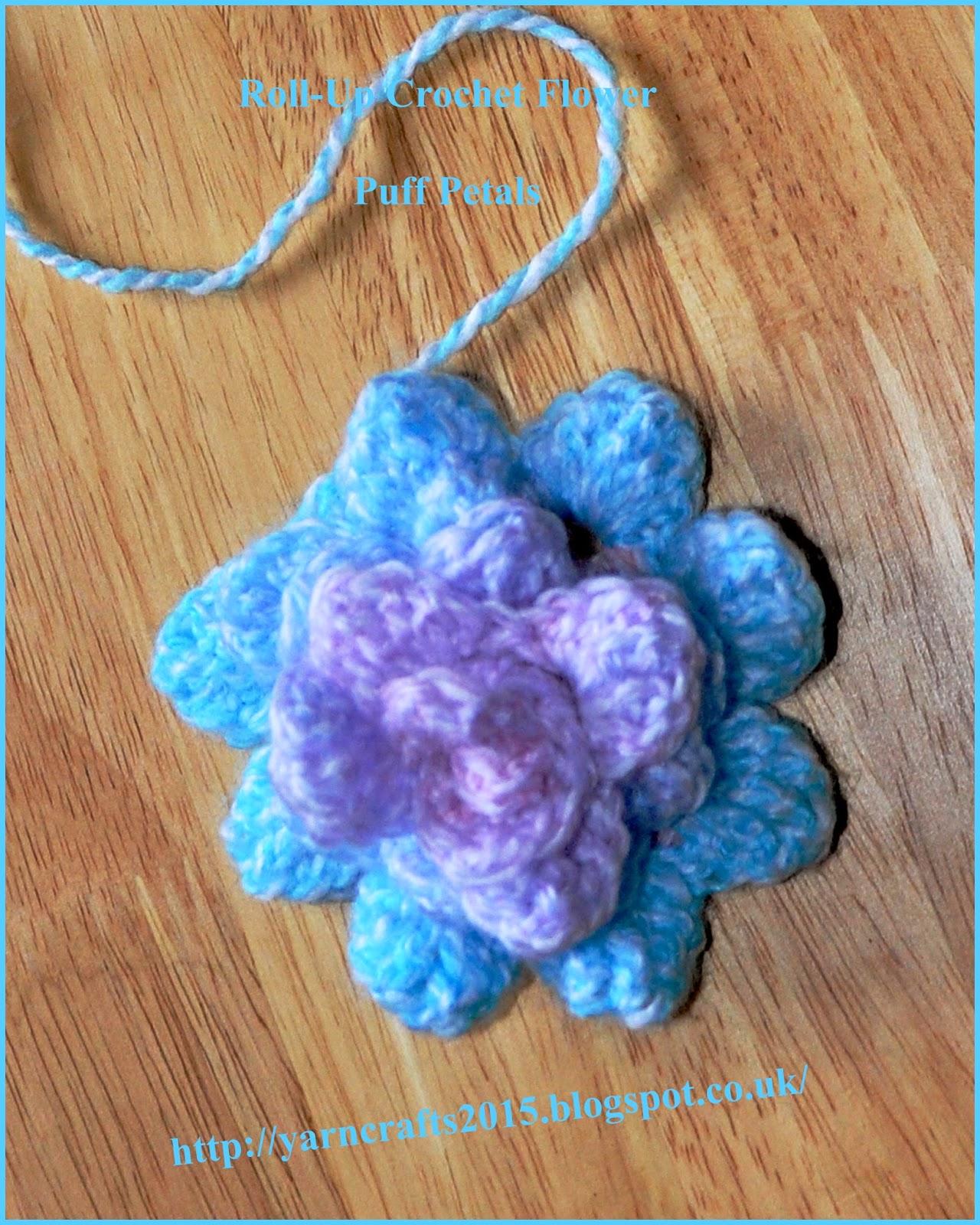 crochet flower puff petals