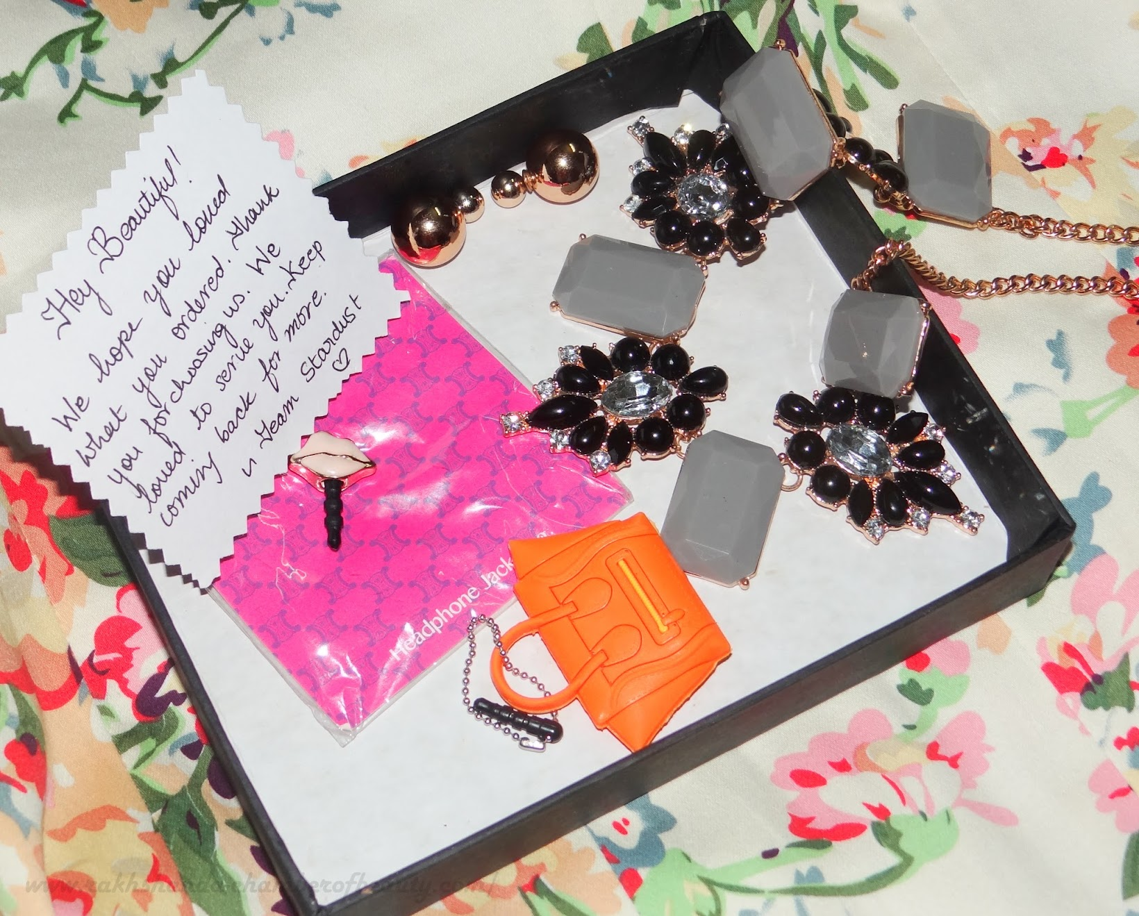 Fashionable accessories from Stardust- review, Indian fashion blogger, Chamber of Beauty