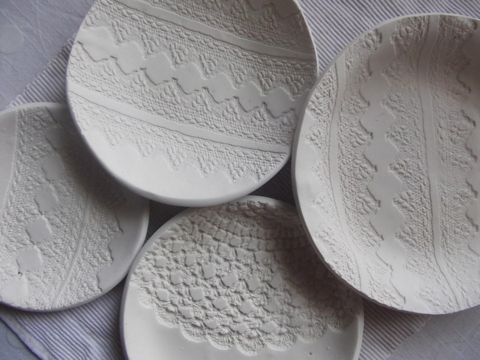 & nostalgiecat: DIY lace print polymer plates