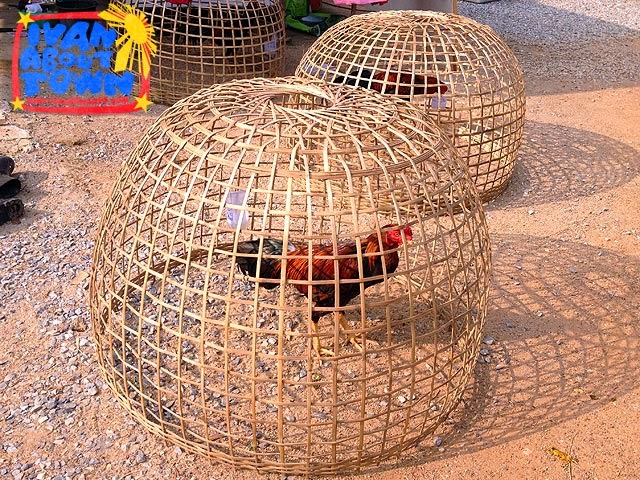 Traditional rooster cage in Sawankalok, Thailand