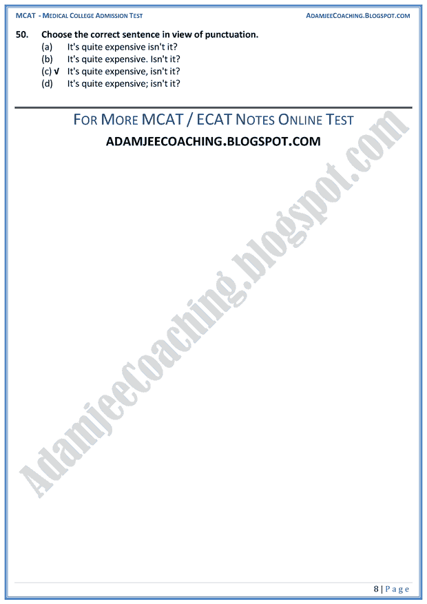 mcat-english-punctuation-mcqs-for-medical-entry-test