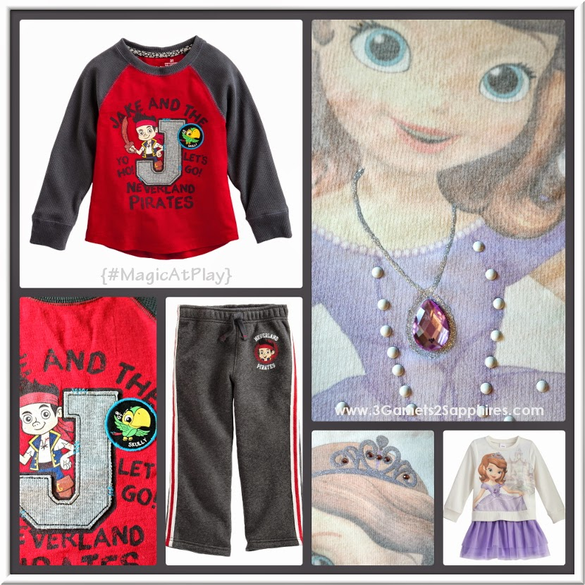 Kohl's Disney Jumping Beans #MagicAtPlay Sofia and Jake clothes for toddlers, boys, and girls  |  www.3Garnets2Sapphires.com