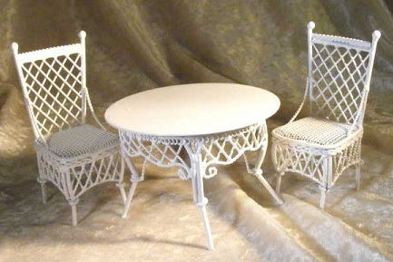Next, We Found This Lovely Set Of Wicker Miniature Patio Furniture That  Will Go Nicely