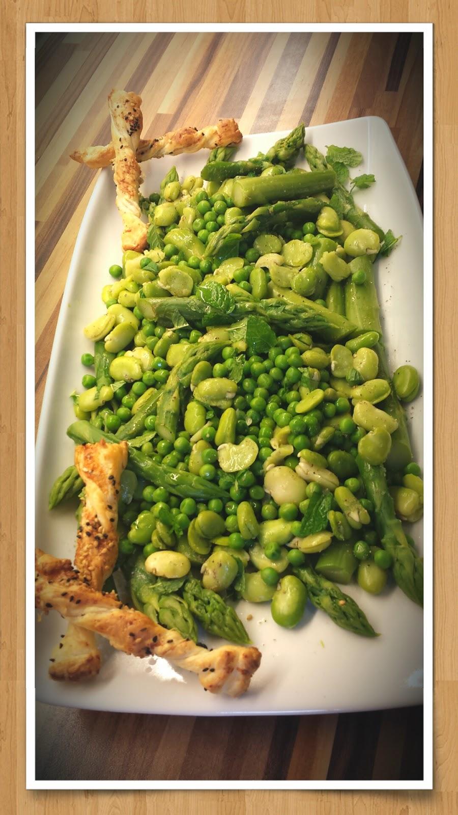 Gemüsesalat Spargel