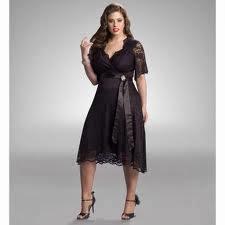 vestido encaje negro para gorditas