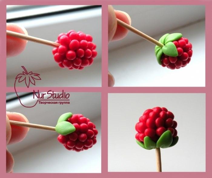 Как сделать из полимерной глины ягоды