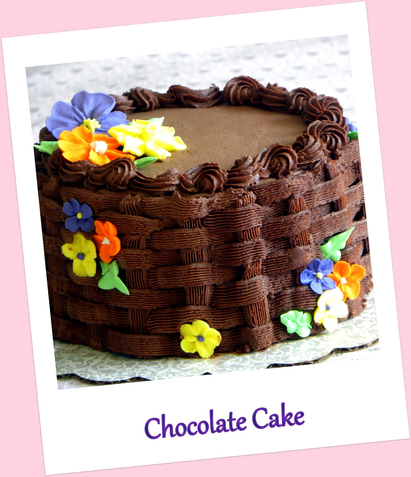 Wilton Cake Class Buttercream Recipe : Tasty Treats: Eggless Chocolate Cake with Chocolate ...