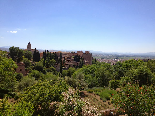 View of the Alhambra from within the gardens on Semi-Charmed Kind of Life