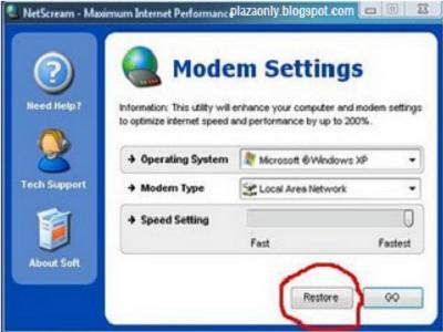 Panduan Netscream Untuk Mempercepat Internet