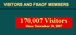 FSAOF BLOG VISITORS SINCE 2007