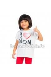 Baju Anak i love mom