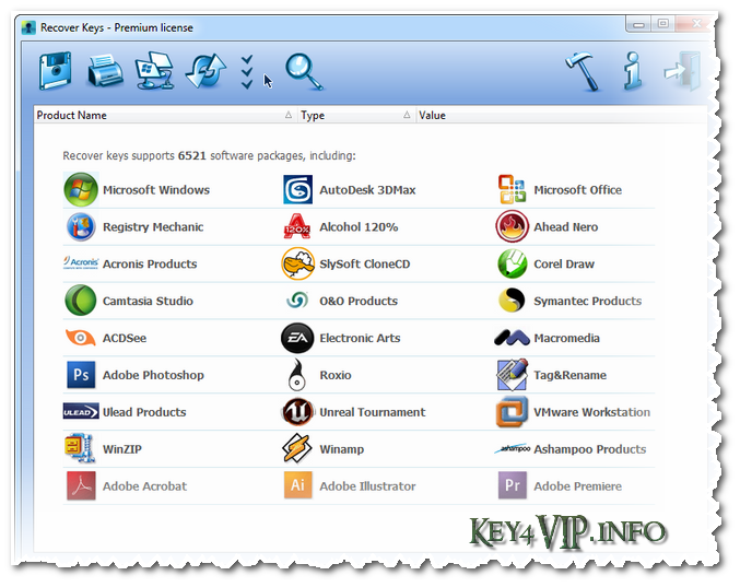 Recover Keys 8.0.3.110 Premium Multilingual Full,Tìm lại key phần mềm đã cài trong máy bạn