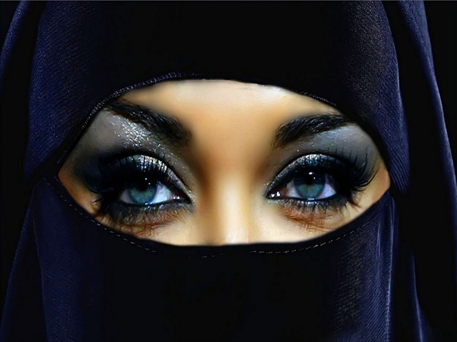 Arabian Beauty Eyes Woman Niqab | Car Interior Design