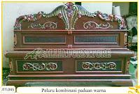 Tempat tidur ukiran kayu jati Peluru kombinasi paduan warna