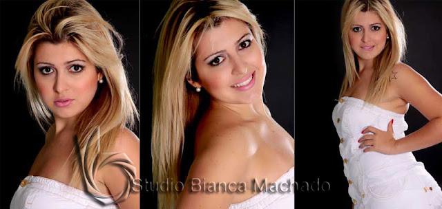 Fotos criativas para modelo