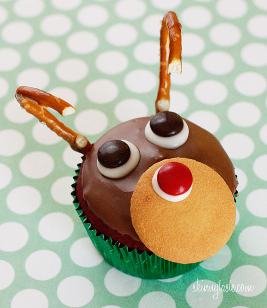 Rudolph the Red Velvet Cupcake | Skinnytaste