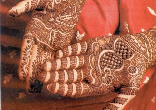 Mehndi Bridal Back Side : Superb mehndi designs wedding jewelry earrings